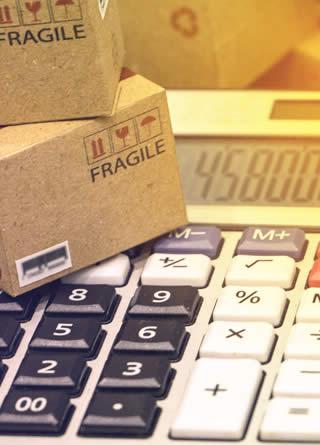 calculatrice pour inventorier ou faire un listing des cartons dans le stock à vendre
