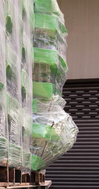 stock de marchandises endommagées suite à un sinistre lors d'un transport